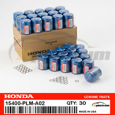 30PC GENUINE HONDA /ACURA OEM ENGINE OIL FILTERS W/ DRAIN WASHERS 15400-PLM-A02