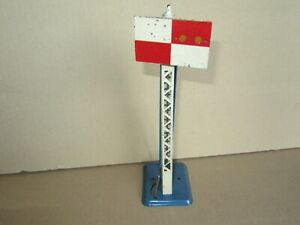 648P Hornby France Signal To Chequered IN Sheet Metal Height 25.4 CM O Zero
