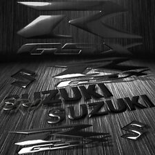"5.75"" ABS Logo+Letter Decal+6.25""GSXR Fairing Emblem Sticker Suzuki Glossy Black"