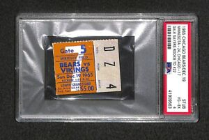 """GALE SAYERS """"22 TOUCHDOWNS"""" ROOKIE TD NFL RECORD! 12-19-1965 BEARS TICKET PSA"""