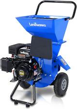Landworks Wood Chipper Shredder Mulcher Super Heavy Duty 7 Hp 212cc Gas Power.