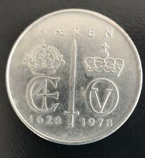 925//1000 Large 1978 KINGDOM OF NORWAY OLAV V UNC 50 KRONER SILVER COIN