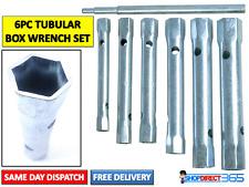 6PC TUBULAR BOX WRENCH SET 6-17mm Tube Bar Spark Plug Spanner Deep Metric CT3358