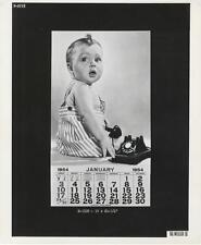 VINTAGE AD STILL-ORIGINAL PHOTO-THE WEILLER COMPANY-NEW YEAR'S BABY-1954