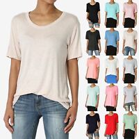 TheMogan Loose Relaxed Fit Short Sleeve Jersey T-Shirts S~3X Basic Boyfriend Tee