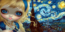 Jasmine Becket-Griffith Art OE 8x16 CANVAS PRINT w/COA Alice in the Starry Night