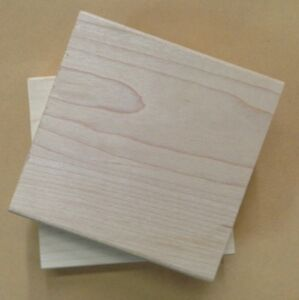 Wood Mounts for Rubber Stamps, Wood Blocks, Stamp Mounts Maple Mounts, 2.5 X 2.5
