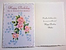 1 Birthday Greeting Card/Envelope Mother Mom Love Happy Step Friend Flowers Wish