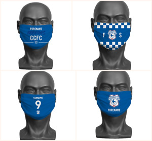 Personalised Cardiff City FC Face Covering / Mask Official Adult Football Club