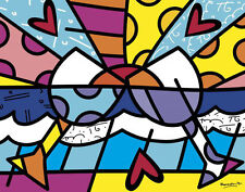 Romero Britto Cheers Abstract Wine Cocktail Drink Kitchen Print Poster 11x14