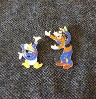 Lot of 2 DISNEY Donald & Goofy Full Body PINS 2000 Hand-In-Hand