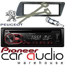 Peugeot 306 Pioneer CD MP3 USB AUX Reproductor de Radio Estéreo Coche Ámbar & Kit De Montaje