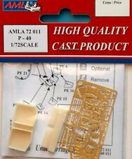AML 1/72 P-40 Detail Set for Academy and Hasegawa kit # A72011