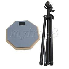More details for drum practice pad set with stand 8 inches rubber double side pads gray