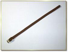 Textil Nylon Durchzugs Uhrenarmband braun 8mm breit  1mm dick  0950