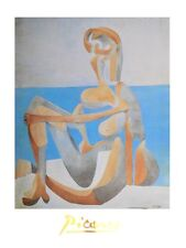 Pablo picasso baigneuse mine au bord de la mer poster Art Imprimé Image 80x60cm