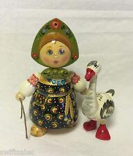 "New ""Russian Matryoshka"" Hand-Made Linden Wood Doll Medium - #26"