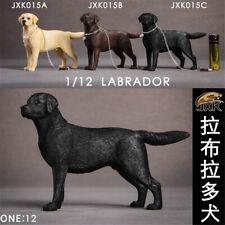 JXK 1/12 Labrador retriever Figure Police Dog Animal Model Collector Toys Gift