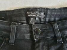 FOREVER NEW Poppy Mid Rise Ankle Grazer Skinny Jeans Black Aus 8 L30