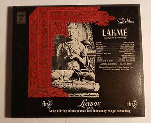 LAKME Complete SEBASTIAN ROBIN DELIBES  Classical 3 lp Box mono ffrr Vinyl OPERA