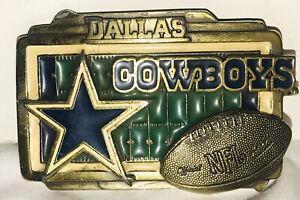 NFL Dallas Cowboys Football Ltd Ed Great American Products Brass Belt Buckle USA