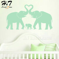 Elephant Family Love Removable Vinyl Wall Decal Sticker Nursery Kids Baby Room
