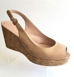 Stuart Weitzman Jean Cork Wedge Slingback Sandals (Size 10.5 M) - MSRP $440.00!