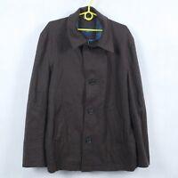 TOMMY HILFIGER Mens Brown Wool Cashmere Hip Length Coat Jacket SIZE XL ,54