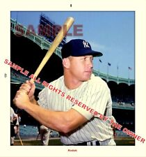 MICKEY MANTLE PHOTO LEFTY & RIGHTY BATING AT THE PLATE 5X6 & 5X5 EXC 1960 - 61