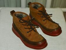 Cole Haan Sporting Brown Leather Boots Shoes Lace Up size 5.5