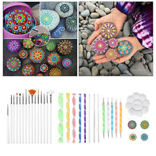 33pcs / set Mandala Dotting Tools Rock Painting Kits Dot Art Pen Paint Schablone