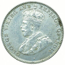 More details for coin / ceylon / 10 cents 1928 unc silver george v beautiful coin  #wt30131