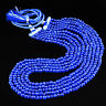 545.00 CTS EARTH MINED BLUE SAPPHIRE 5 STRAND ROUND SHAPE BEADS NECKLACE (RS)
