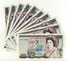 Gill Shakespeare £20 banknote (1988 - 1991) In Clean EF Condition B355