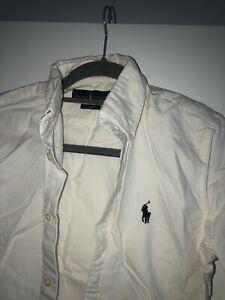 Gorgeous Ladies White Ralph Lauren Shirt Custom Fit Size M