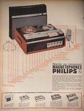 PUBLICITÉ 1966 PHILIPS MAGNÉTOPHONE RÉSERVÉS AU CONNAISSEURS - ADVERTISING