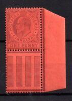 Gibraltar KEVII 1903 1d violet Margin mint LHM SG47 WS20936
