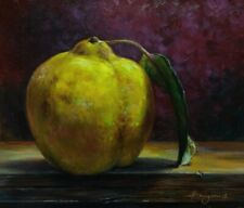 """Still life with Quince"" Oil original painting. artist  V. Shurganov"