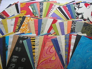 BARGAIN 100 A5 mulberry paper SELECTION 25-100gsm CRAFTY COW unryo saa kozo silk