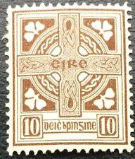 Ireland 10d Celtic Cross Brown 1922 - SG81 Mint Lightly Hinged