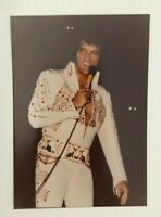"ELVIS PRESLEY VINTAGE KODAKON STAGE IN CONCERT RARE 3.5 X 5 "" COLOR PHOTO"