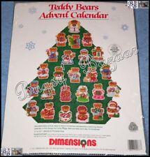Dimensions TEDDY BEARS ADVENT CALENDAR Tree Plastic Canvas Kit –Lucy Rigg- 9077