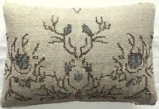 (40*60cm, 16*24cm) Textured handmade pillow cover carpet greys blues