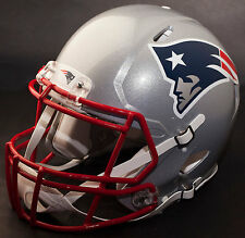 NEW ENGLAND PATRIOTS NFL Authentic GAMEDAY Football Helmet w/ S2BD-SP Facemask