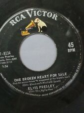 """ELVIS PRESLEY 45 RPM """"One Broken Heart For Sale"""" """"They Remind Me Too Much"""" VG"""