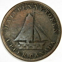 1820 CANADA ½ PENNY SLOOP TOKEN - COMMERCIAL CHANGE - PRICED RIGHT!