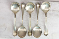 5x REED & BARTON HEPPLEWHITE STERLING SILVER ANTIQUE GUMBO SPOON BEAUTIFUL