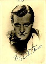 Vintage CHARLES STARRETT Signed Photo