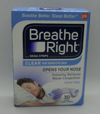 Breathe Right Nasal Strips For Sensitive Skin - 30 Large Clear Strips
