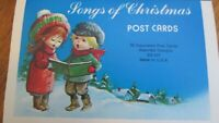 Vintage Christmas post cards Songs of Christmas Cute Kids Stationery 62 Cards